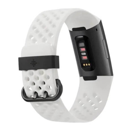 FITBIT opaska Charge 3, Spec. Edition Graphite/White Silicone