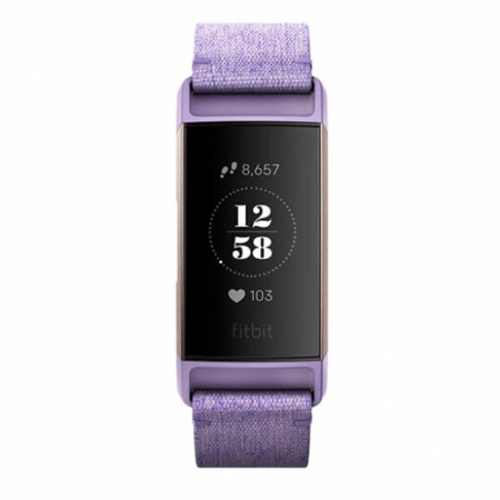 FITBIT opaska Charge 3, Spec. Edition Lavender Woven