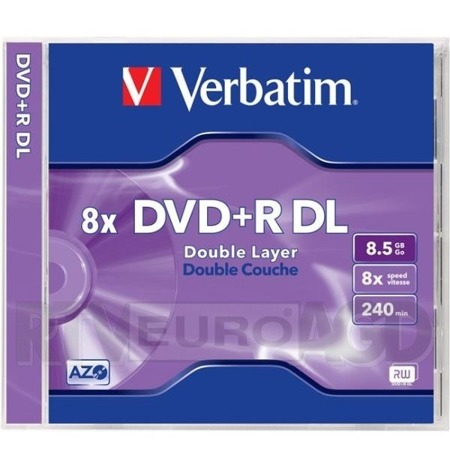 Płyta DVD+R Verbatim 8,5GB 8 x Double Layer slim